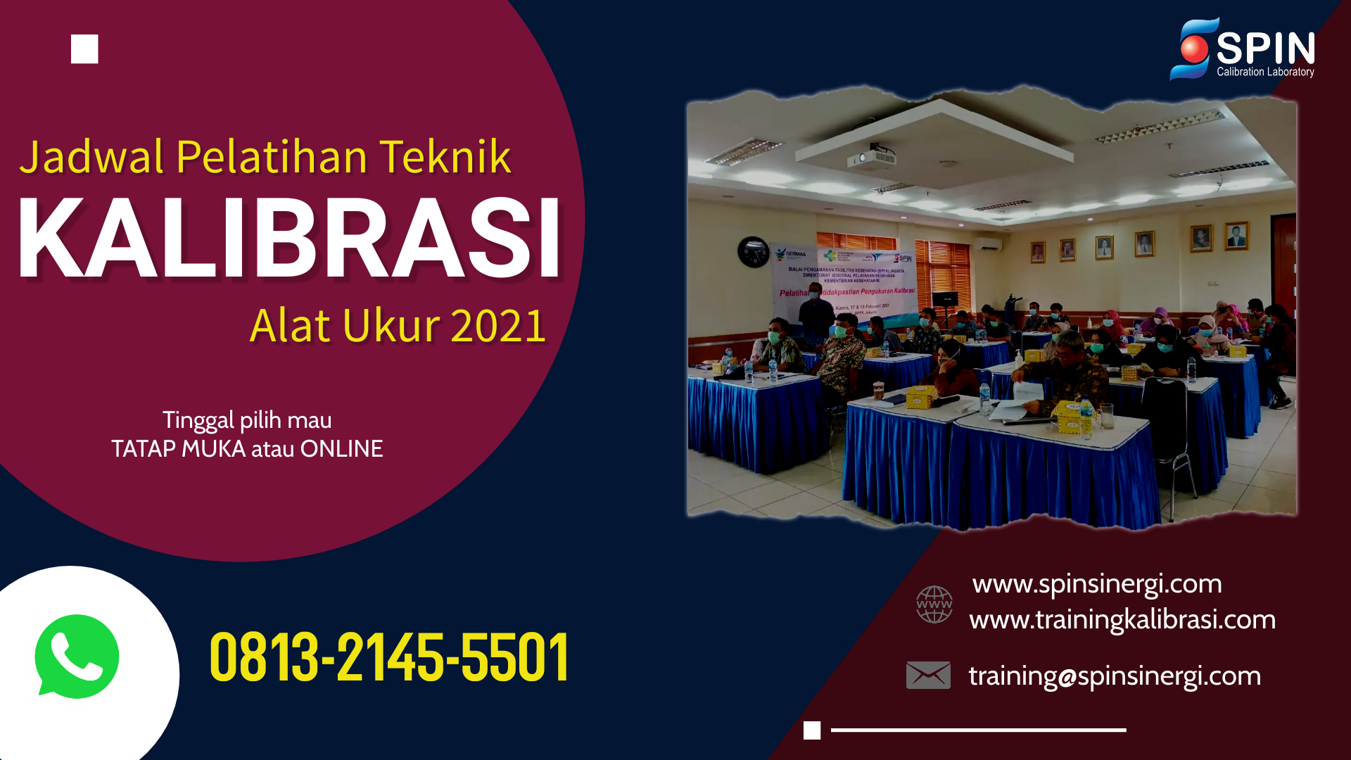 Jadwal Training Kalibrasi 2021