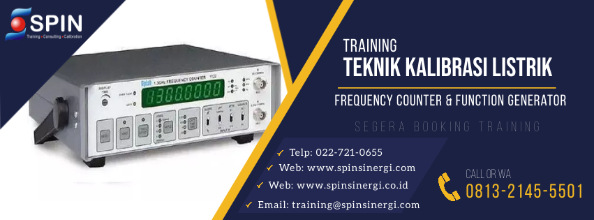 Training Teknik Kalibrasi Listrik Frequency Counter & Function Generator